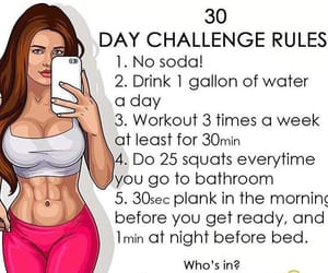 challenge, girl, and workout image