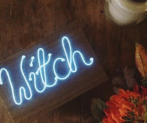 neon, witch, and wicca image