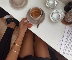 breakfast, cream, and coffee image