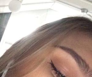 blonde, eyebrow, and eyeshadow image
