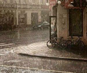 rain, rainy day, and city image