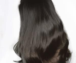 black hair, curly hair, and long black hair image