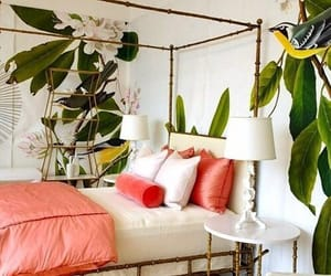bedroom, tropical, and home image