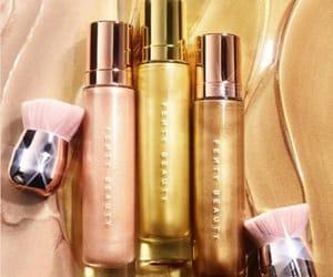 gold, make up, and rihanna image