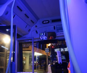 aesthetic, bus, and night aesthetic image