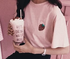 pastel, pink, and strawberry image