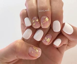 nails, girl, and gold image