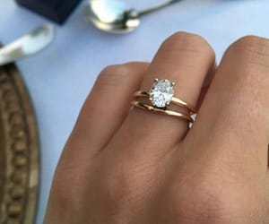 diamond, engagement, and jewelry image