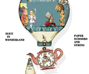 alice in wonderland, mobile, and teal image