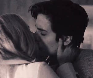 black and white, couple, and riverdale image