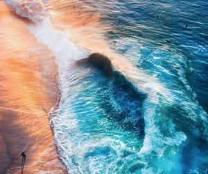 background, iphone, and beach image