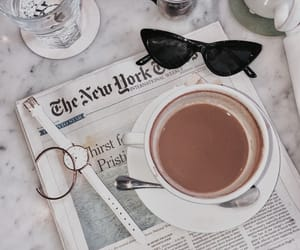 accessories, coffee, and newspaper image