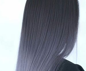 girl, long hair, and purple ombre hair image