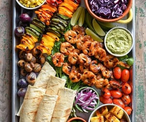 food, healthy food, and grill image