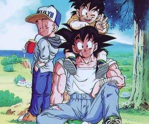 anime, goku, and gohan image