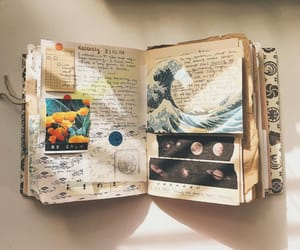 art journal, flowers, and journaling image