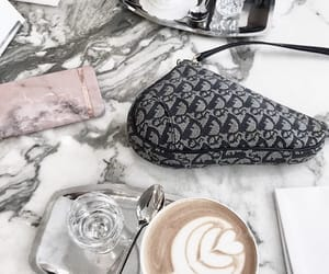 coffe, dior, and drinks image