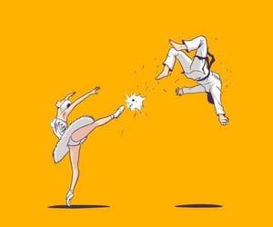 ballet, karate, and ballerina image