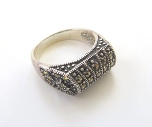 etsy, art deco jewelry, and marcasite ring image