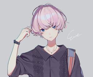 art, blue eyes, and manga image