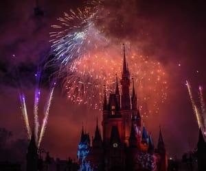 disney, disney world, and fireworks image