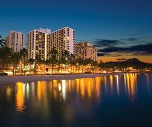 hawaii, beachfront resort, and vacation image