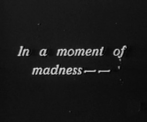madness, moment, and quotes image