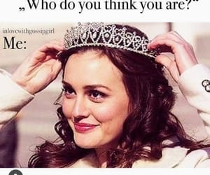 blair waldorf, brunette, and crown image