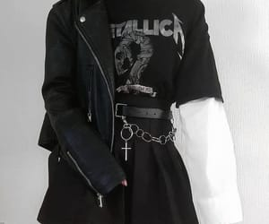 outfit, aesthetic, and black image