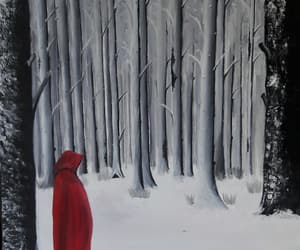art, red riding hood, and Oil Painting image