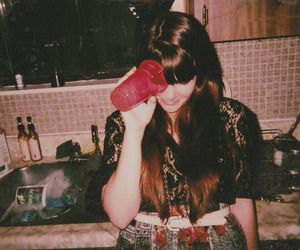 girl, cup, and vintage image
