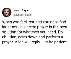 islam, patient, and pray image