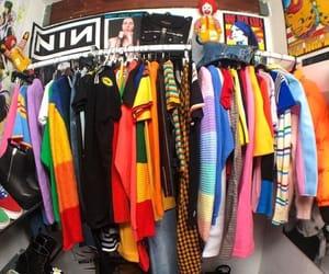 90s, fashion, and rainbow image