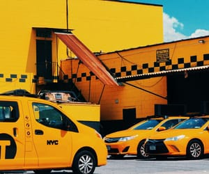 cabs, yellow, and photography image