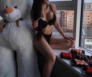beauty, sushi, and teddybear image