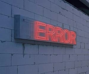 error, wall, and neon image