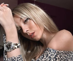 beautiful, girl, and leopard image