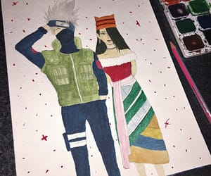 art, gouache, and kakashi image