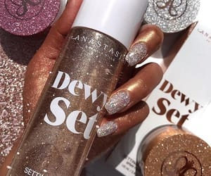 glitter, makeup, and nails image
