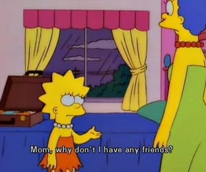 simpsons, friends, and lisa image