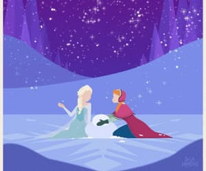 animation, elsa, and anna image