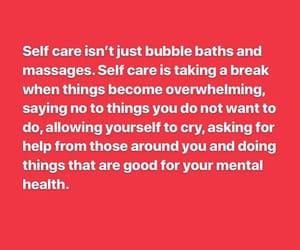 bubble bath, massage, and mental health image