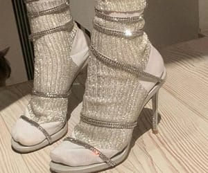 glitter, heels, and shoes image