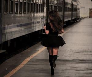 girl, train, and run image