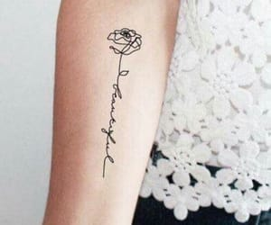 tattoo, rose, and tatto image