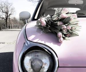 car, pastels, and pink image