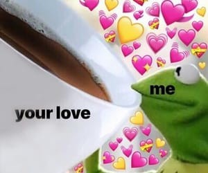 frog, hearts, and kermit image