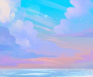 sunset, illustration, and landscape image