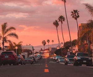sunset, beach, and cali image