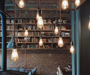 books, coffee shop, and interior image